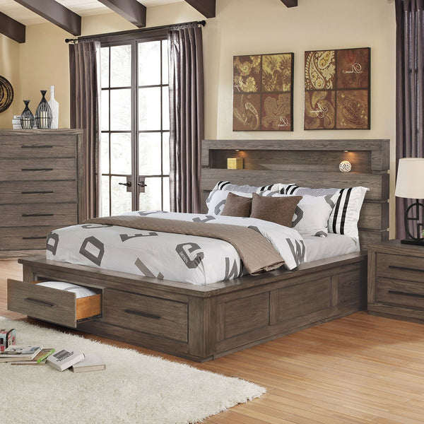 Oakburn Transitional 5 Pc. Queen Bedroom Set w- 2NS - InteriorDesignsToGo.com