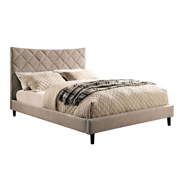 Estarra Full Bed (Beige) - InteriorDesignsToGo.com
