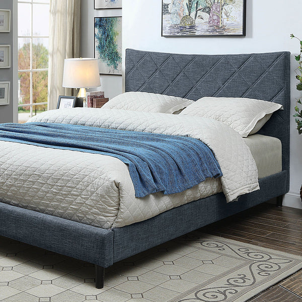 Estarra Queen Bed (Blue) - InteriorDesignsToGo.com