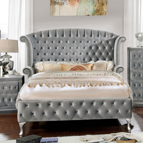 Alzir E.King Bed Gray (Bed Only) - InteriorDesignsToGo.com