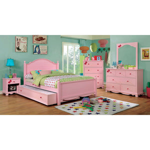 Dani Twin Bed (Pink) - InteriorDesignsToGo.com