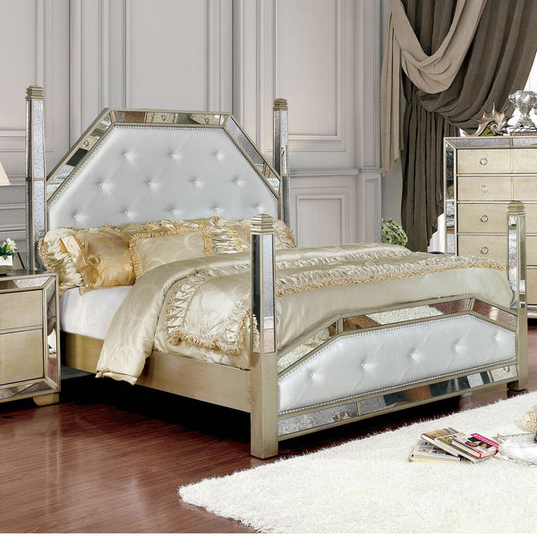 Loraine Glam E.King Bed - InteriorDesignsToGo.com