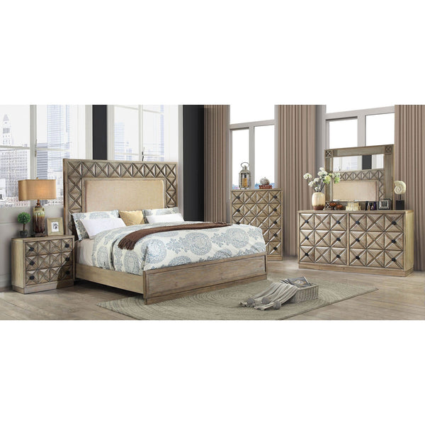 Markos Transitional E.King Bed - InteriorDesignsToGo.com