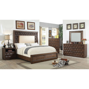 Eutropia 5 Pc. Queen Bedroom Set w- 2NS - InteriorDesignsToGo.com