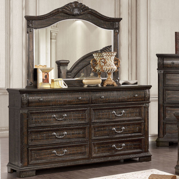 Genevieve 5 Pc. Queen Bedroom Set w- Chest - InteriorDesignsToGo.com