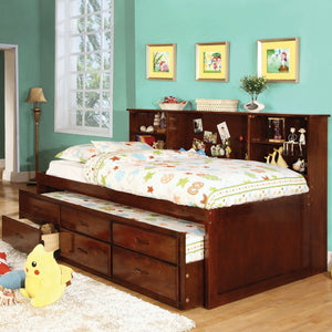 Hardin Transitional Captain Twin Bed w- Trundle + 3 Drawers - InteriorDesignsToGo.com
