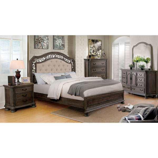 PERSEPHONE Transitional E.King Bed - InteriorDesignsToGo.com