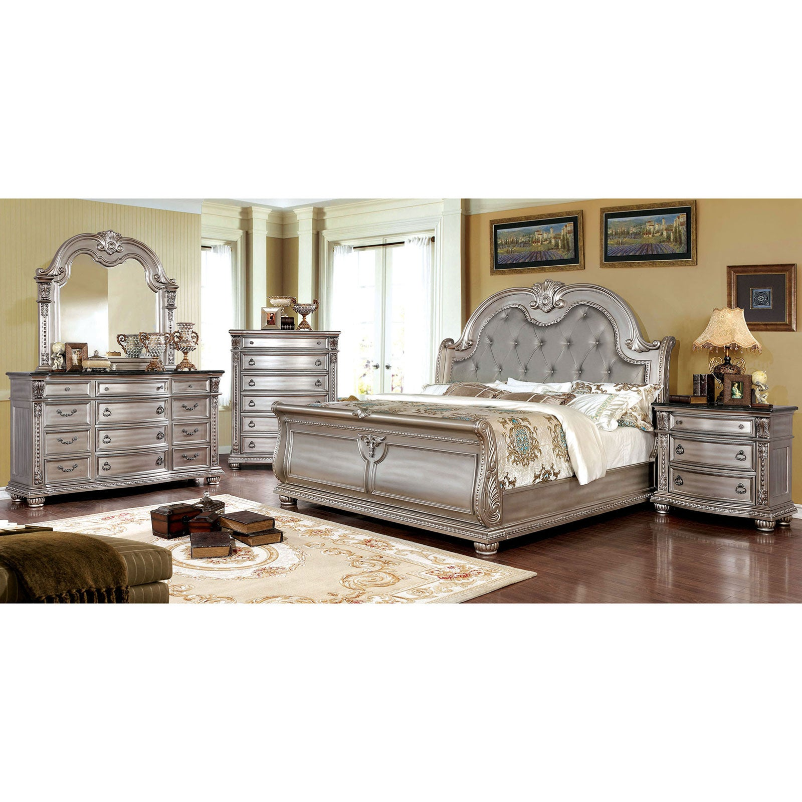 Fromberg 5 Pc. Queen Bedroom Set w- 2NS - InteriorDesignsToGo.com