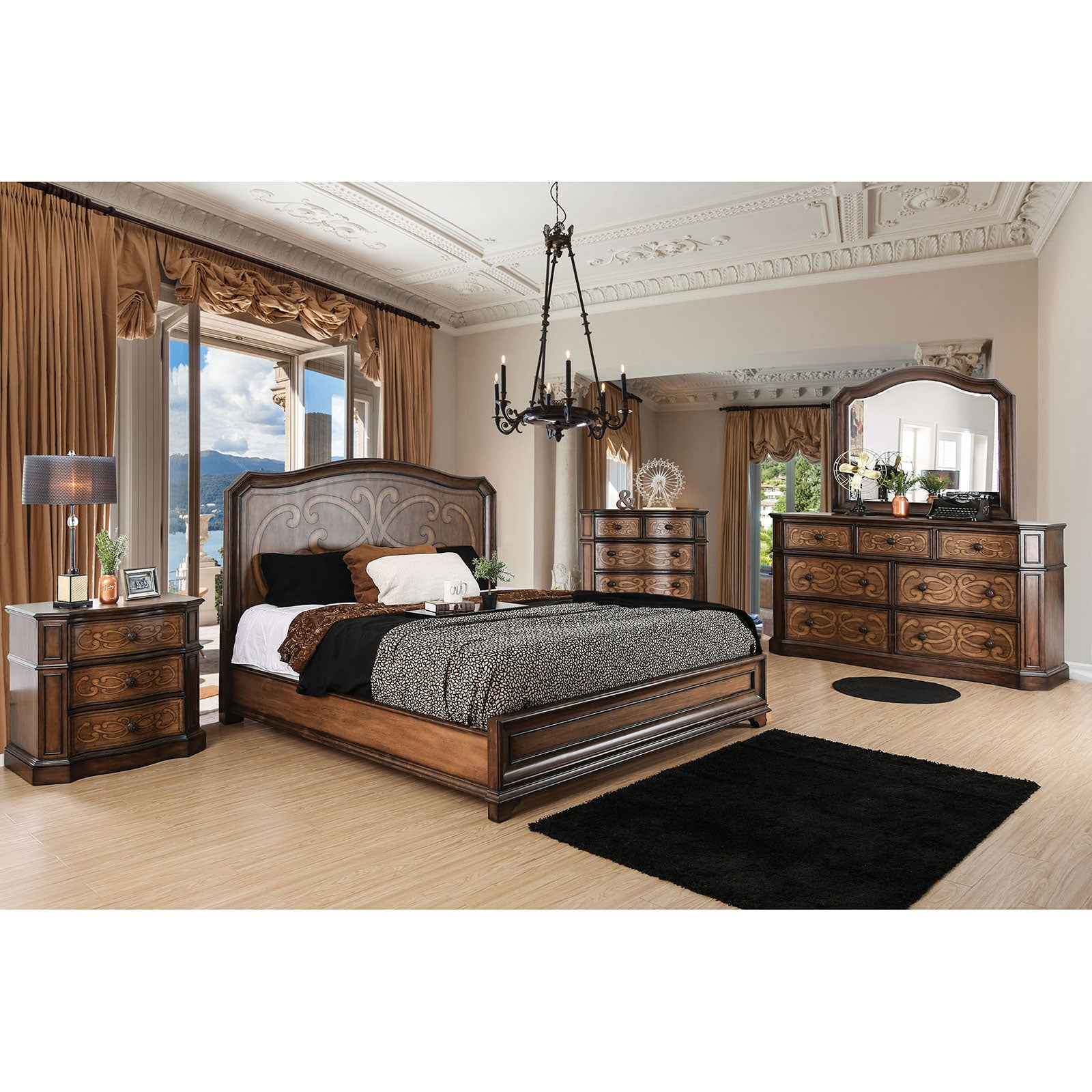 EMMALINE 5 Pc. Queen Bedroom Set w- Chest - InteriorDesignsToGo.com