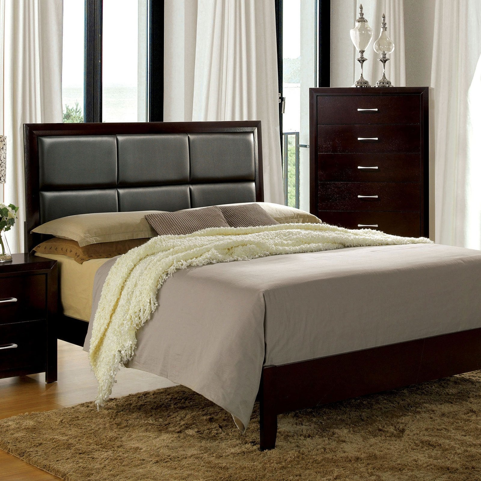 JANINE Contemporary Full Bed - InteriorDesignsToGo.com