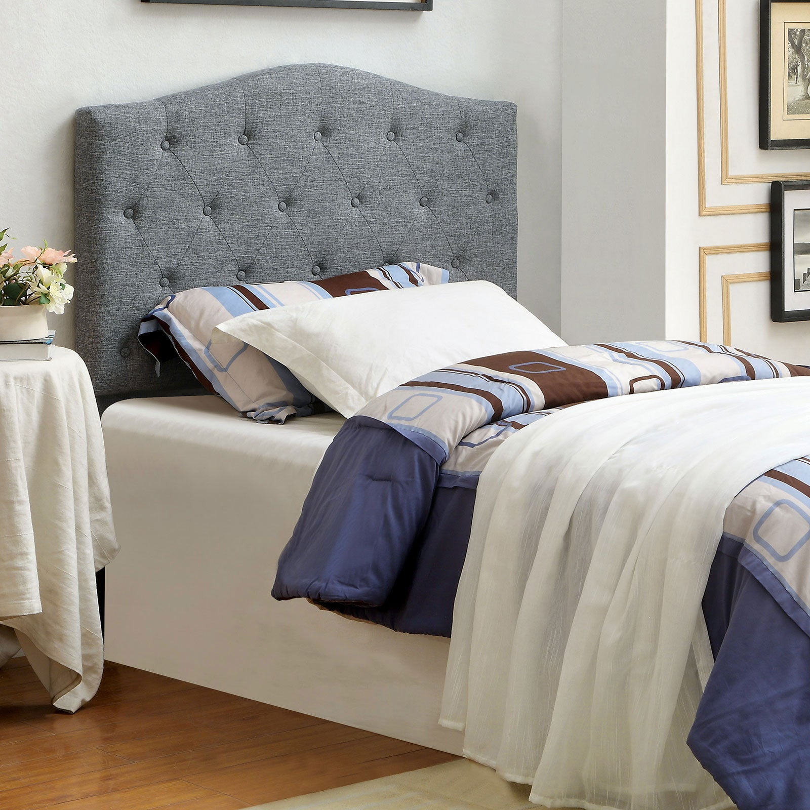 ALIPAZ Twin Headboard Gray - InteriorDesignsToGo.com