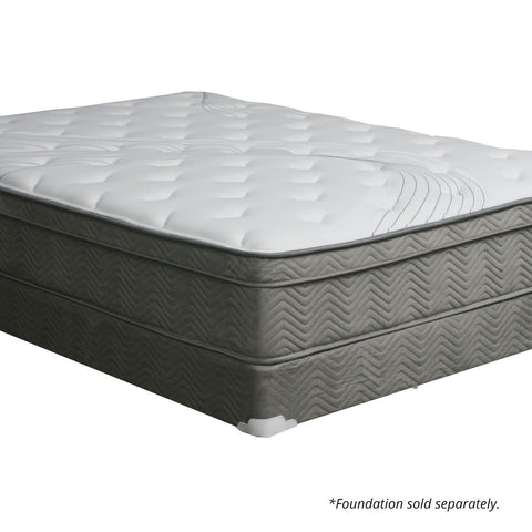 "AFTON Euro Top 12"" Euro Box Pocket Coil Mattress, Full (Foundation Sold Separately) - InteriorDesignsToGo.com"
