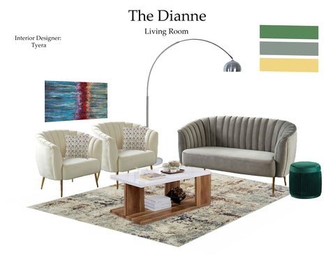 The Dianne Living Room From $7.99 & Up For Full Bundle - InteriorDesignsToGo.com