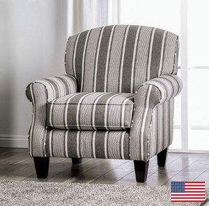 Ames Striped Accent Chair - InteriorDesignsToGo.com