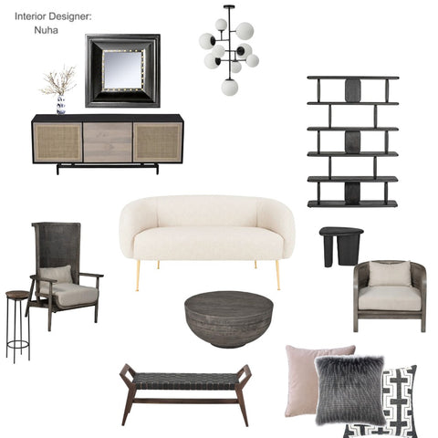 The Clean Minimalist Living room From $81 & Up For Full Bundle - InteriorDesignsToGo.com