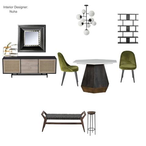 The Green Modern dining room From $195.00 & Up For Full Bundle - InteriorDesignsToGo.com
