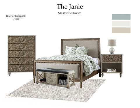 The Janie Master Bedroom From $7.99 & Up For Full Bundle - InteriorDesignsToGo.com