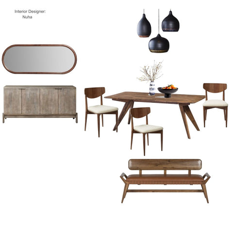Mid Century Modern Dining Room From $399.00 & Up For Full Bundle - InteriorDesignsToGo.com