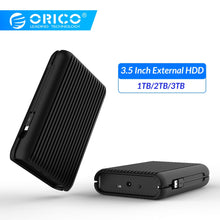 Load image into Gallery viewer, ORICO 3.5 Inch External Hard Drive Disk HDD 1TB 2TB 3TB USB C Hard Disk HD USB3.1 Gen2 10Gbps Type-C Cable With EU Power Adapter