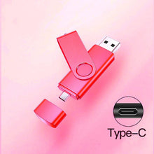 Load image into Gallery viewer, Type c micro usb interface memory flash 32GB 64GB 128gb  Usb Flash Drive memory stick Pendrive
