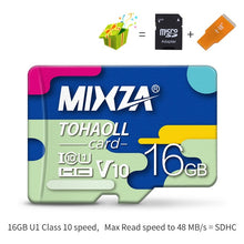 Load image into Gallery viewer, MIXZA Memory Card 256GB 128GB 64GB U3 80MB/S 32GB Micro sd card Class10 UHS-1 flash card Memory Microsd TF/SD Cards for Tablet