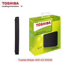 "Load image into Gallery viewer, New TOSHIBA 500GB External HDD Portable Hard Drive Disk HD  2.5"" 5400rpm USB 3.0  Backup Mobile HDD  Extrenal Harddrive  Backup"