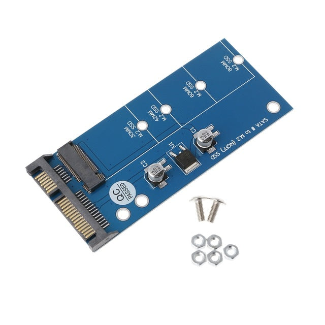 M2 Next Generation Form Factor SSD SATA3 SSDs To SATA Expansion Card Adapter SATA To Next Generation Form Factor Converter