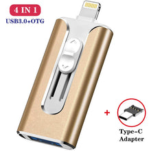 Load image into Gallery viewer, Microflash Usb Flash Drive For iphone 8/7/6s/6s Plus/6/5/5S/ipad Pendrive OTG 8gb 16gb 32gb 64gb 128gb Pen drive HD Memory Stick