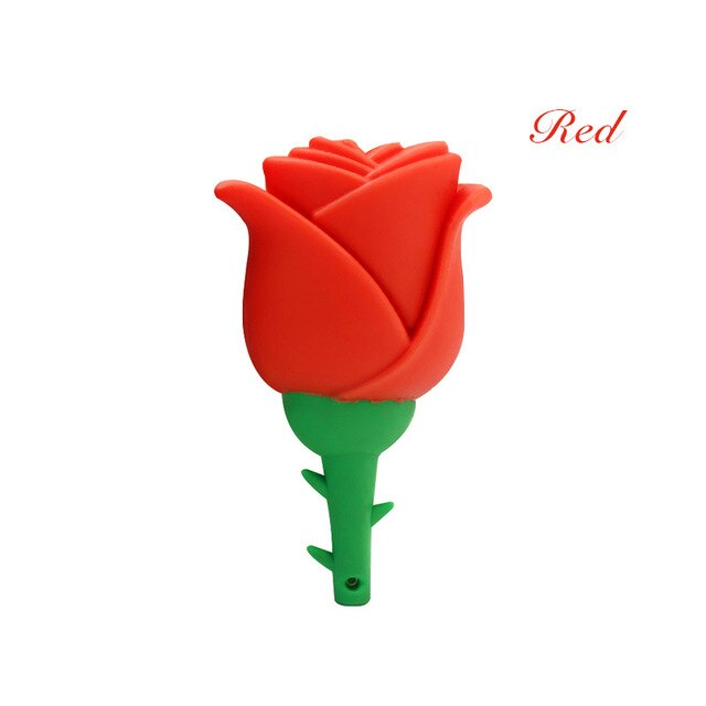 Lovely USB Flash Drive 8GB 16GB Red Pink Rose Flowers Pendrive 32GB 4GB Memory Stick Pen Drives Flashdisk Personalized Girl Gift