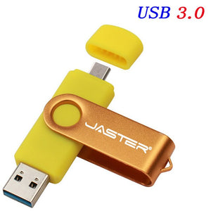 JASTER OTG USB Flash Drive 128GB 64GB High Speed Usb Stick 3.0 Pen Drive 16GB 32GB Memory Stick Pendrive for Android Mobile