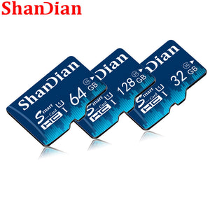 New SHANDIAN Memory Card 128GB 64GB Smart SD Card Class 10 flash card 8GB 16GB 32GB Memory Smartsd TF Card for Tablet