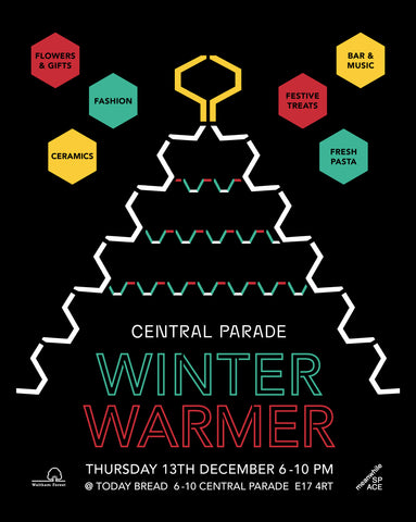 Winter Warmer at Central Parade Event Flyer