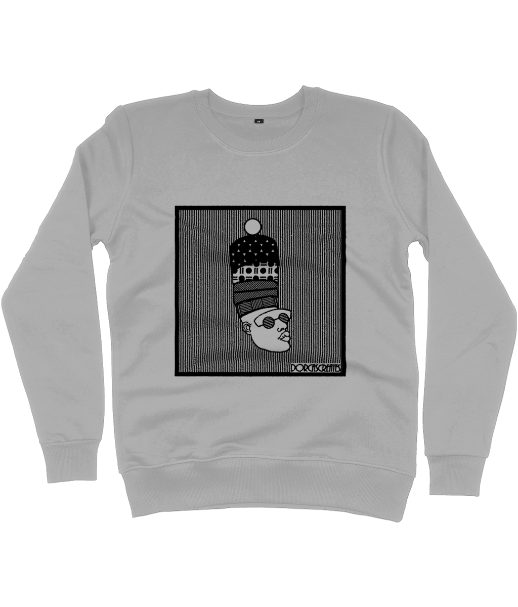 Grey Sweatshirt featuring illustration of black man by DorcasCreates