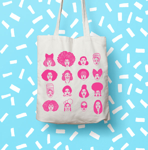 Black Hair Magic Cotton Tote Bag - 2 Colours Available