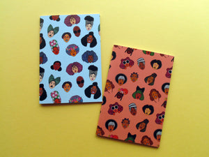 Black Hair Magic Patterned A6 Notebook