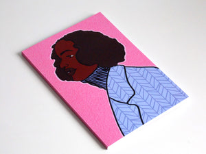 Jael illustrated notebook of black woman by Dorcas Magbadelo on white background