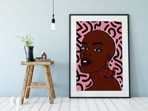 Nana Patterned Art Print