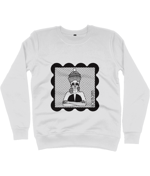Light Grey Sweatshirt featuring illustration of black woman by DorcasCreates