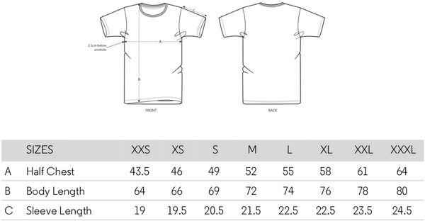 Stanley Stella Creator T-shirt Size Guide
