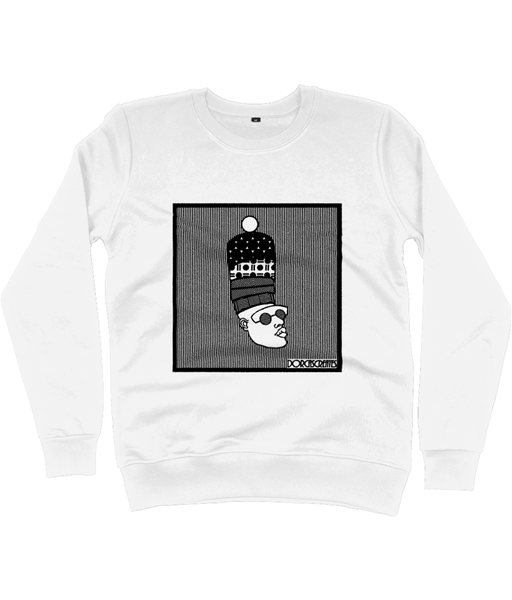 White Sweatshirt featuring illustration of black man by DorcasCreates