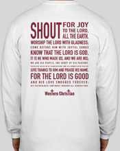 Load image into Gallery viewer, Western Christian Theme Shirts Long Sleeve - White