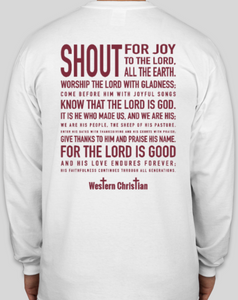Western Christian Theme Shirts Long Sleeve - White