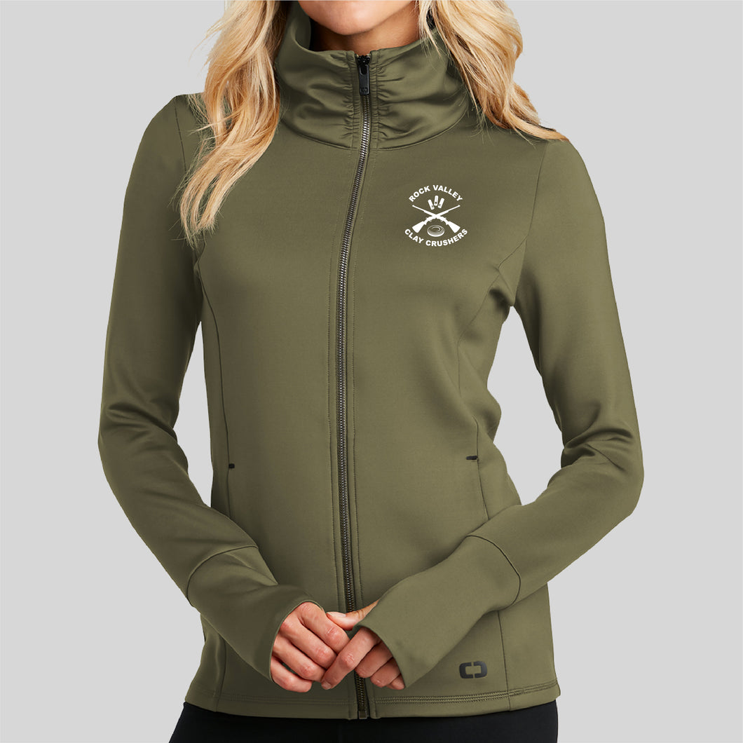 OGIO LADIES Full-Zip Performance Jackets OLIVE - Clay Crushers