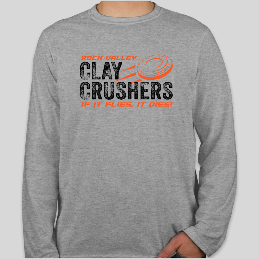 Gildan Softstyle Long Sleeve SPORT GREY - Clay Crushers