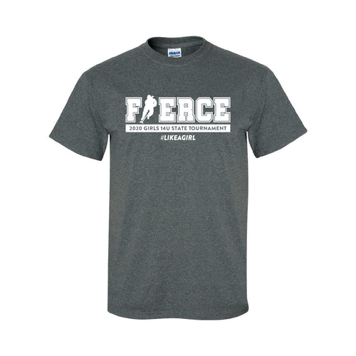 FIERCE HOCKEY | Dark Grey T-Shirt (Black, White, Teal, or Coral Imprint)