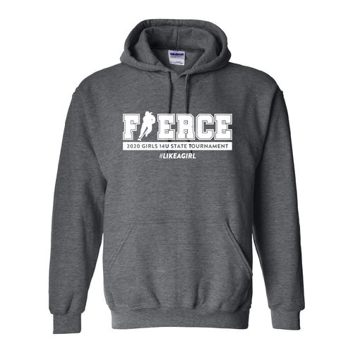 FIERCE HOCKEY | Dark Grey Hooded Sweatshirt (White, Black, Coral, or Teal Imprint)