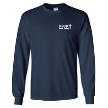 Load image into Gallery viewer, Gildan Ultra Cotton Long Sleeve Shirt NAVY - First CRC Rock Valley