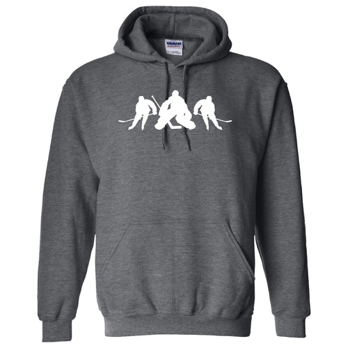 Hockey Player GILDAN HOODED SWEATSHIRT +more color options