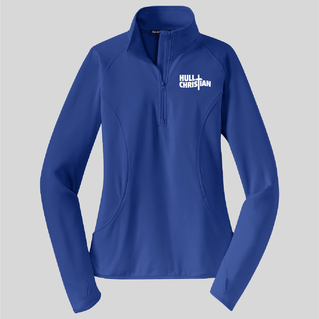 HCS EMBROIDERED Sports Tek POLY LADIES Pullover ROYAL