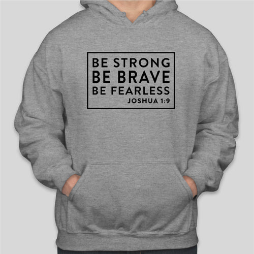BE STRONG Gildan Hoodie SPORTS GREY